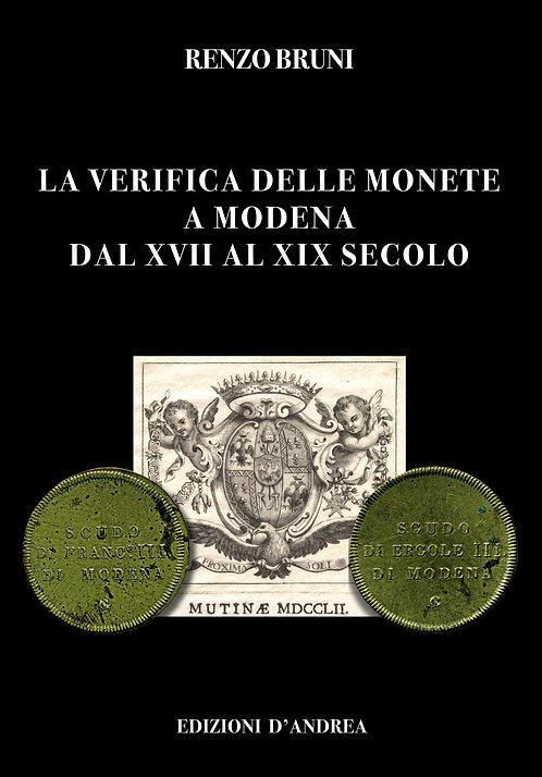 La verifica delle monete a Modena dal XVII al XIX secolo