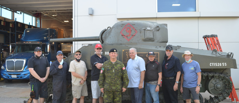 The team with Lt. Col Finney