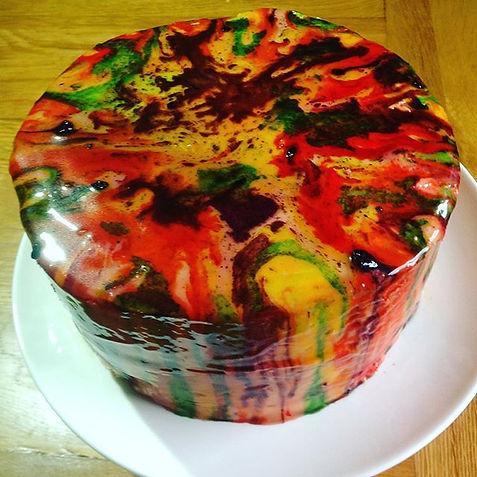Mirror glazed celebration cake#mirrorcak