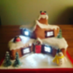 House Christmas cake.JPG