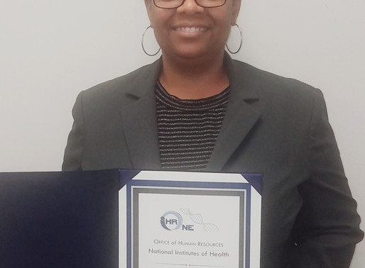 "DSFederal's Keturah Dubar receives NIH ""One OHR"" award"