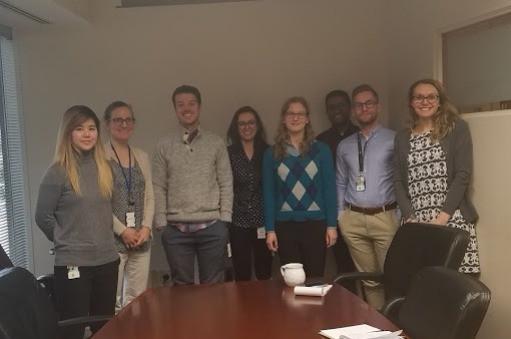 RCDC team picture: Christine, Nancy, Brock, Evelina, Hayley, Adwait, Matthew, Samantha