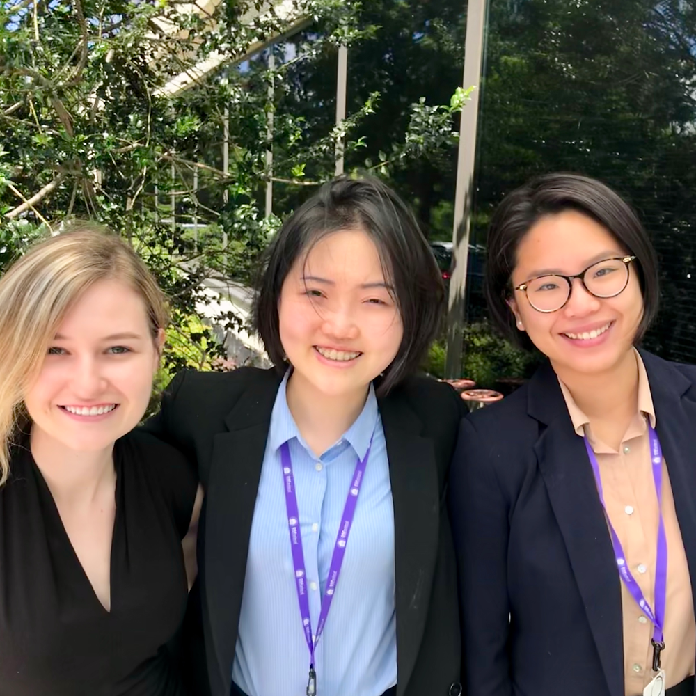 DSFederal interns Faith Giguere, Hsien Shen, and Jing LiJing