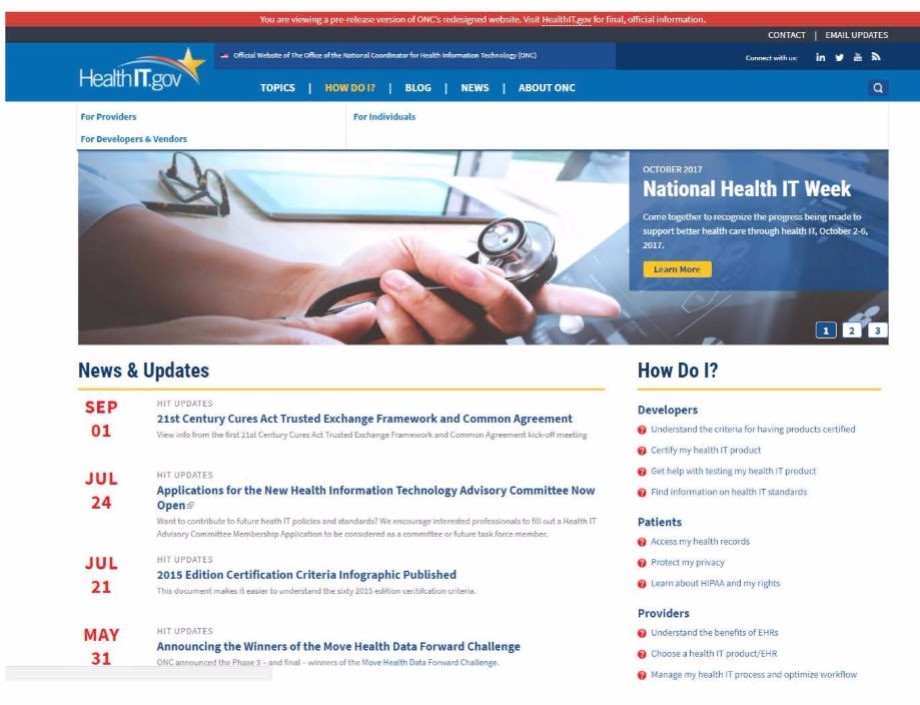 HealthIT.gov: The newly launched beta site