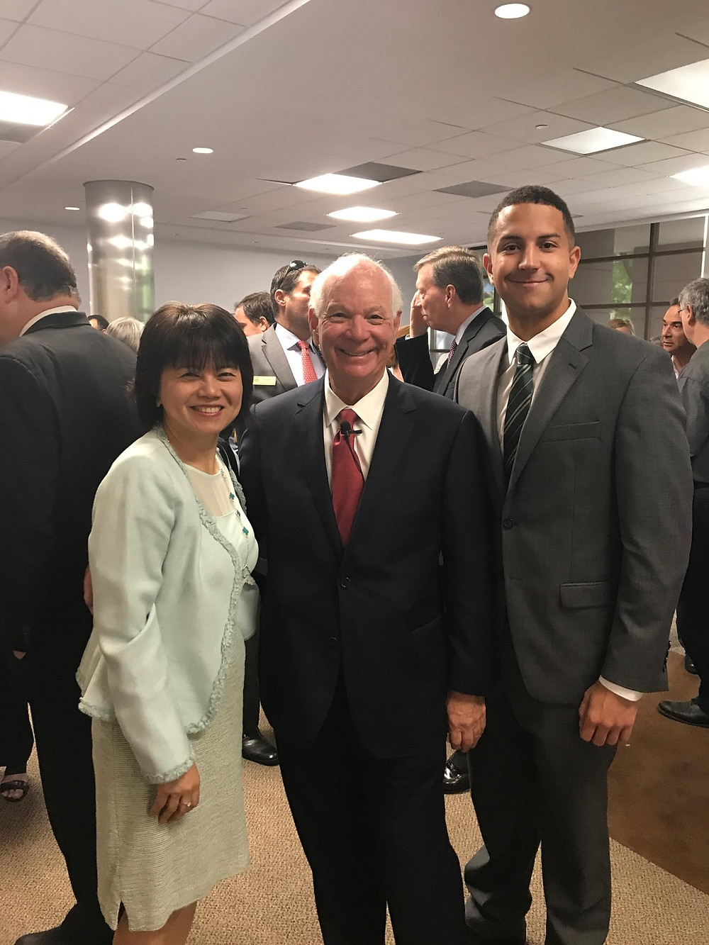 DSFederal CEO Sophia Parker with Senator Cardin and DSFederal Technical Writer Collin Dobbins