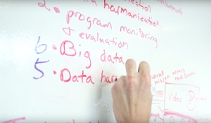 Program monitoring and evaluation, data harmonization, big data