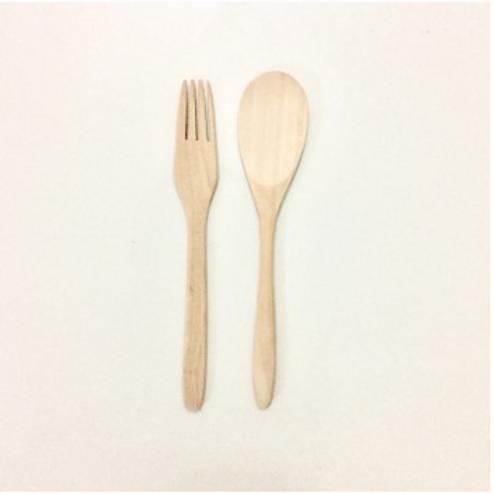 Wooden Spon & Fork