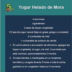 Yogur Helado de Mora