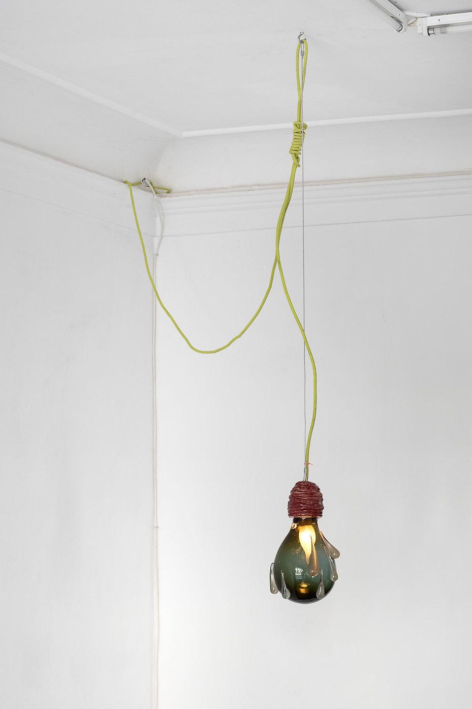 glass art, hand blown glass, rain drop, mette vangsgaard, light art