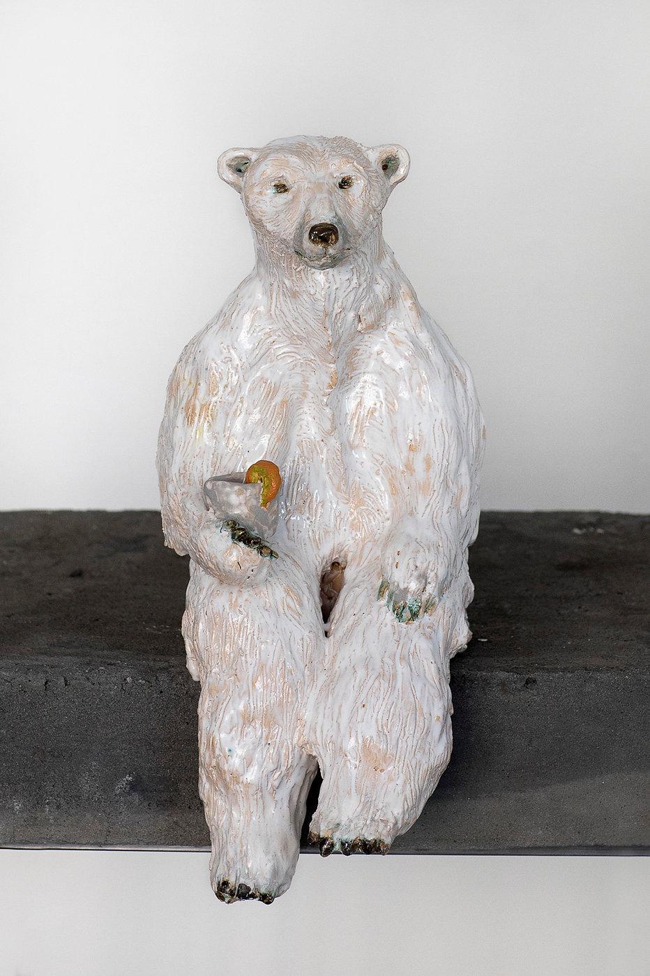ceramic sculpture, polar bear, keramik, figures in ceramic