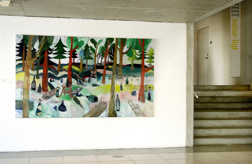 b. Oliemaleri 140 x240 cm. Flasker i skov. statens kunstf. 2006.jpg