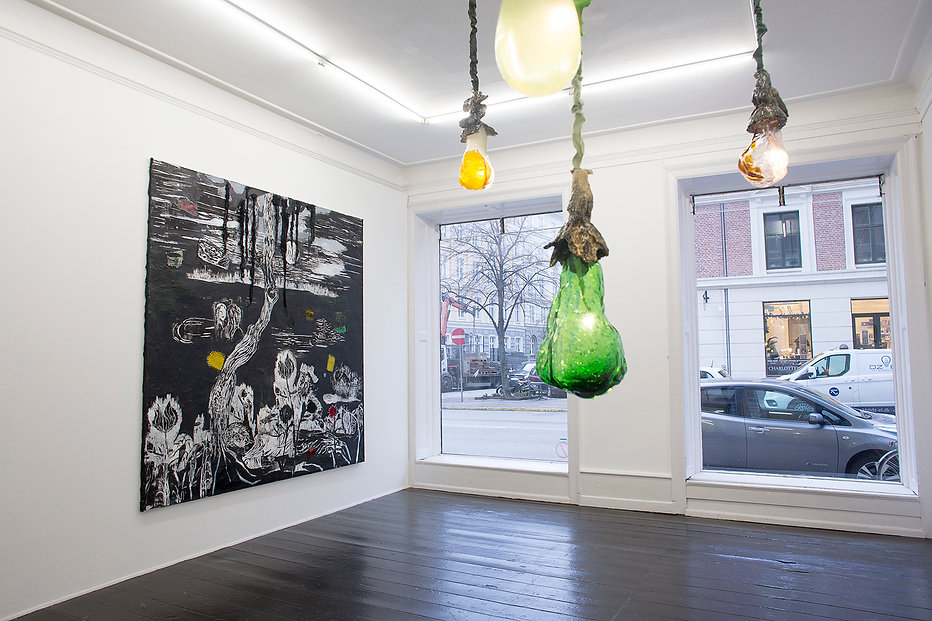Mette Vangsgaard , installation view, solo exhibition, fearless (in a dream)