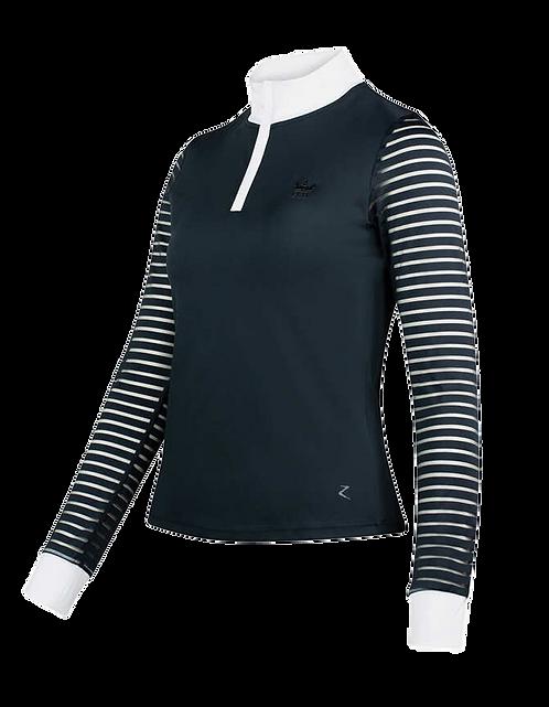 Horze Maya Long Sleeve Sheer Striped Show Shirt