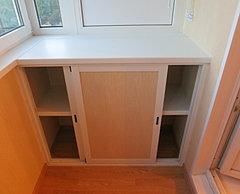 Мебель для балкона и лоджии москва и область - шкафы и тумбы.