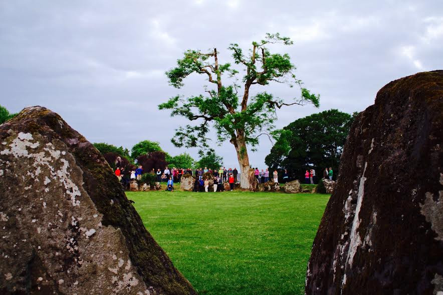 Summer Solstice day at Grange Stone Circle - photo by Mike Barry