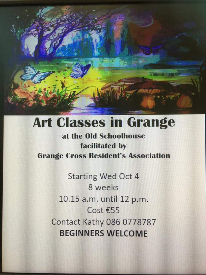 Art Classes by Kathy Tiernan at the old schoolhouse in Grange