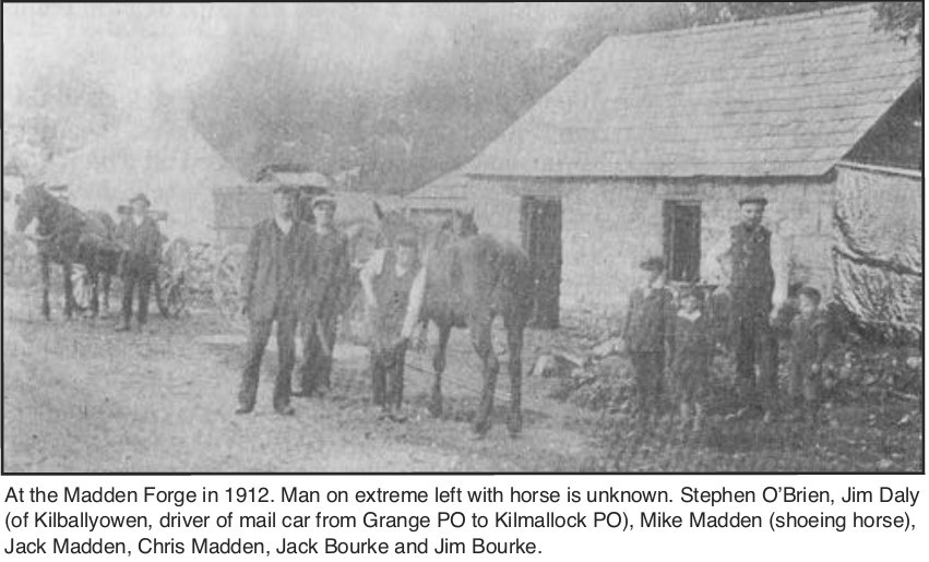 The Forge at Grange when it was a hive of activity many decades ago.