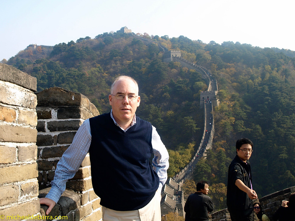Mike Barry at The Great Wall of China