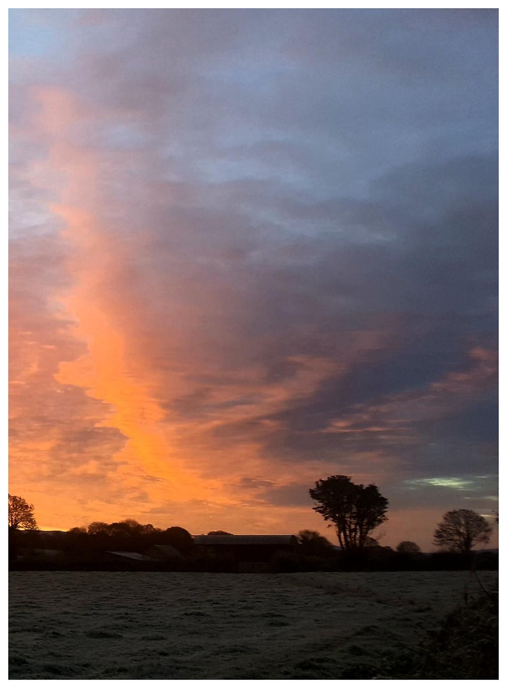 Sky at Rahin photographed by Kathy Tiernan