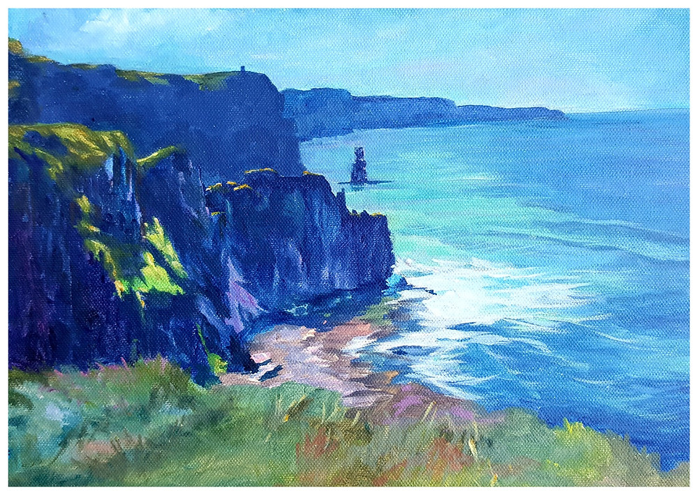 The Cliffs of Moher painted by Kathy Tiernan