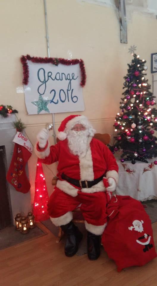 Santa at the Old Schoolhouse in Grange in 2016