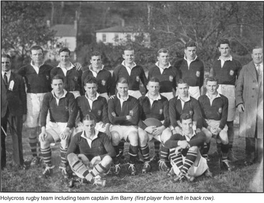 Holycross Rugby Team, circa 1930s