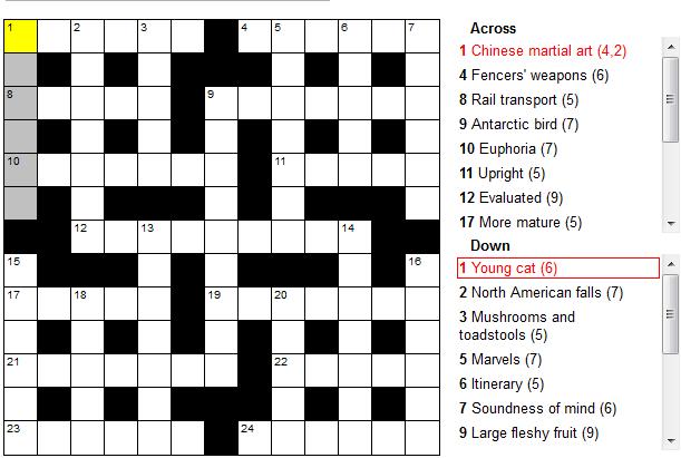 Stock Crossword