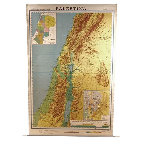 Vintage school map - Palestine