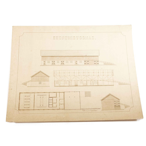 vintage architectural drawing 1912