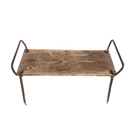 Antique checkmark bench