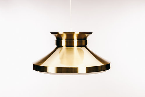 1960s brass pendant light