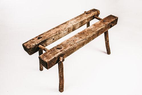 Antique pine bench 1800s