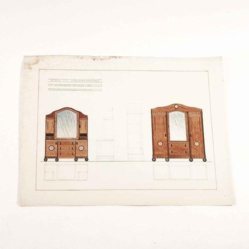 Swedish architectural drawing
