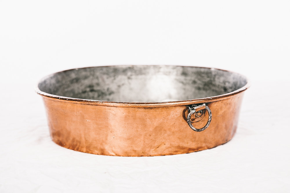 antique copper bowl for decoration fantastic patina