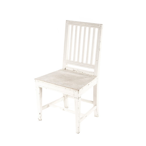 White painted Windsor chairs
