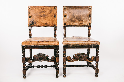 Baroque Chairs With Leather Seats