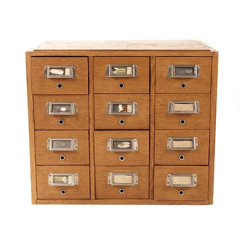 Archive shelves - oak
