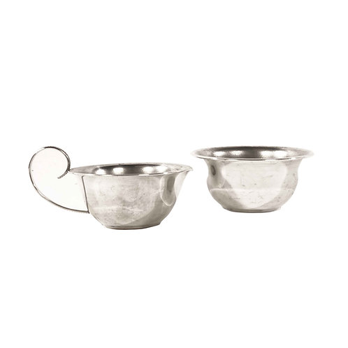 Silver-plated milk and sugar holder
