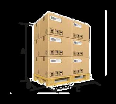 packaging in carton, plastic spools