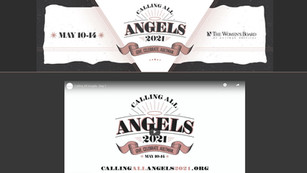Landing page for a charity benefit event and online auction