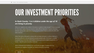 Investment priorities page design
