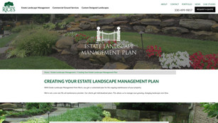 Landscaping page design