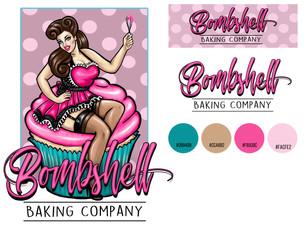Bakery illustrative branding and logo design
