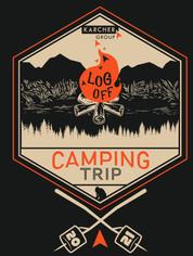 Camping trip t-shirt design
