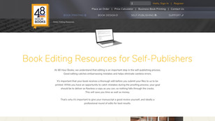 Editing Resources page design