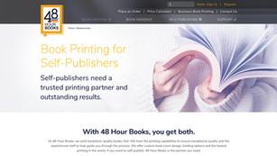 Printing landing page design