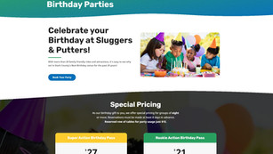Amusement park - birthday party page
