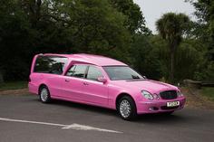 Pink hearse