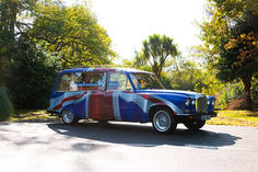 Union Jack hearse