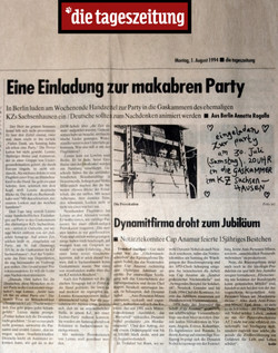12 Die tagezeitung, Berlin, 1994, Party in the gas chamber.jpg